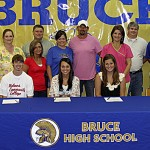 Bruce Trojans sign scholarships for tennis, softball