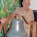 Goudelocks, Collums donate old M&SV bell to Bruce Museum