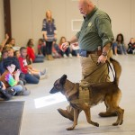 Sheriff's dog visits BUES