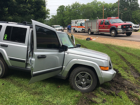 Wreck scene where the shooting took place on Hwy. 32.