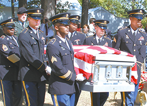 Cpl. Hellums funeral at Shady Grove.