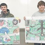 Geography students design amusement parks for final