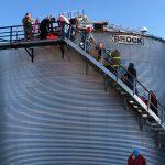County crews rescue man from grain bin