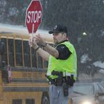 Rain, sleet, snow…Terry Griffin works school crossing with smile