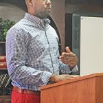 Gladney questions district policy in talk to school board