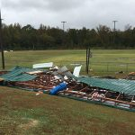 Storm damage at Academy