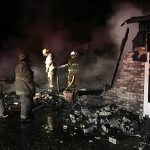 Home engulfed with fire after explosion